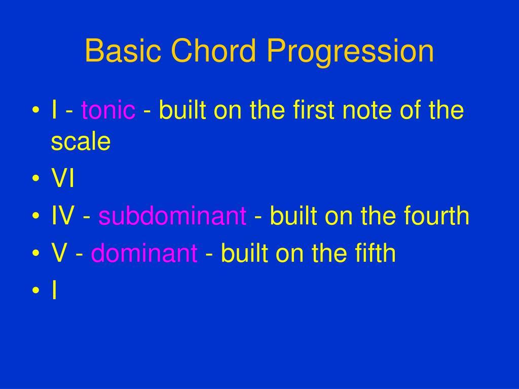 Basic Chord Progression