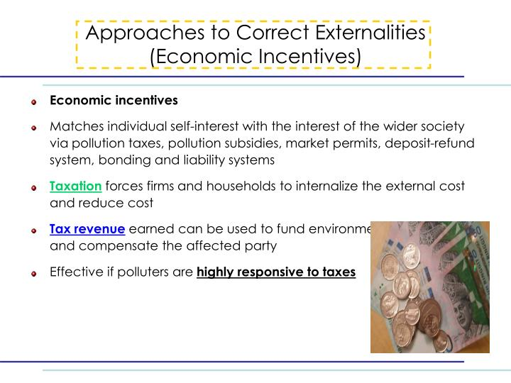 Approaches to Correct Externalities