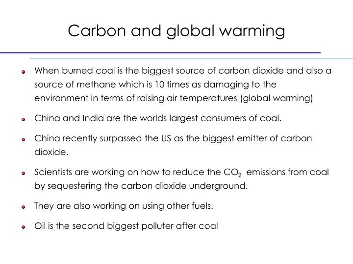 Carbon and global warming