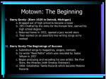 motown the beginning
