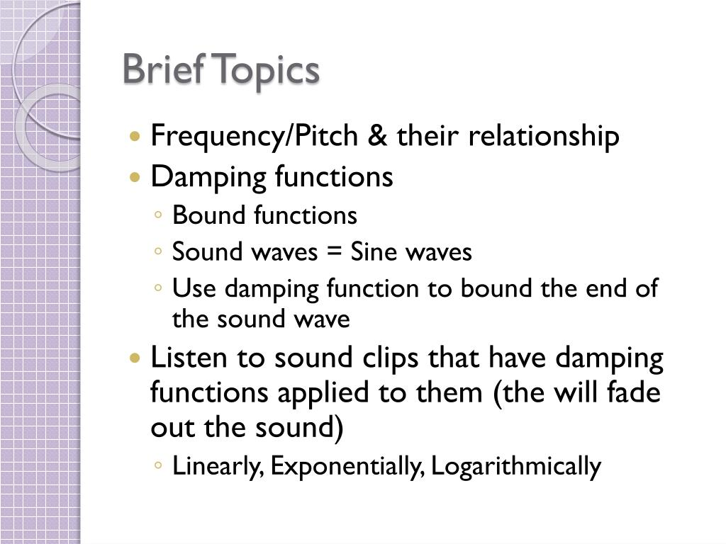 Brief Topics