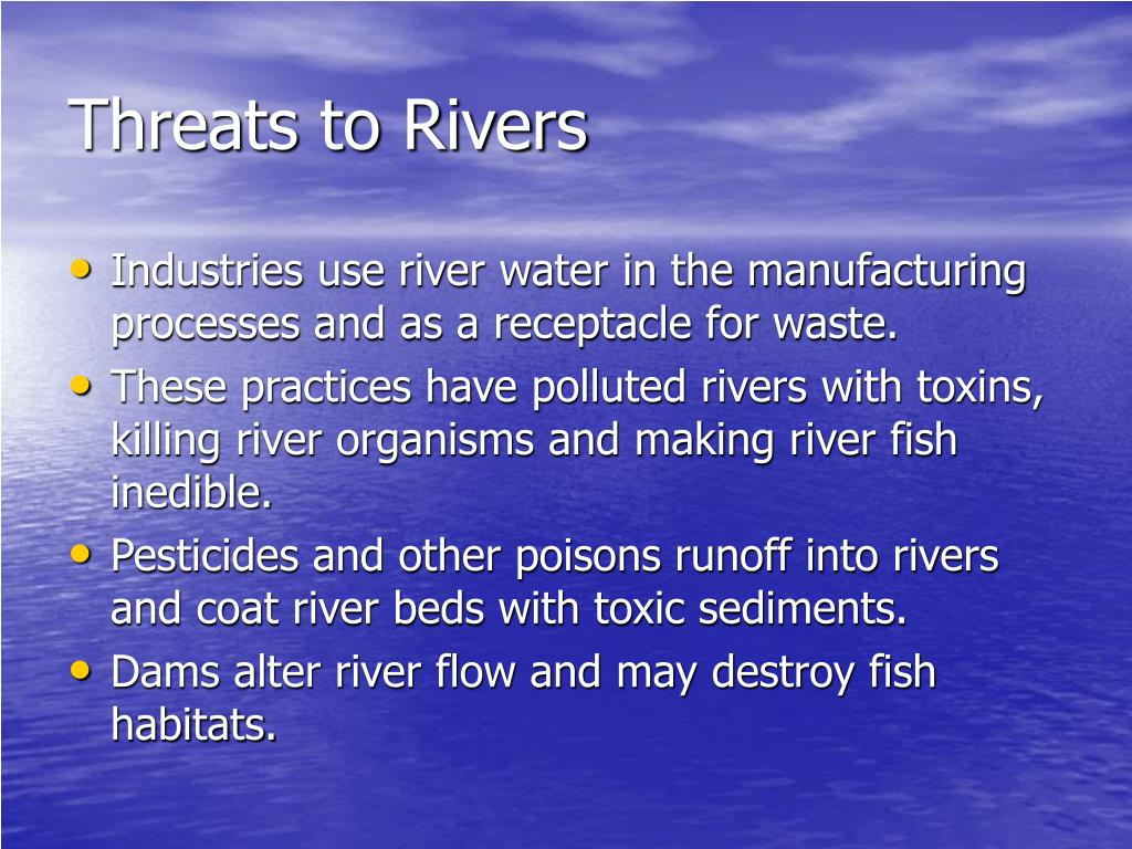 Threats to Rivers