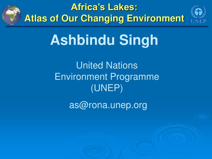 Africa s lakes atlas of our changing environment