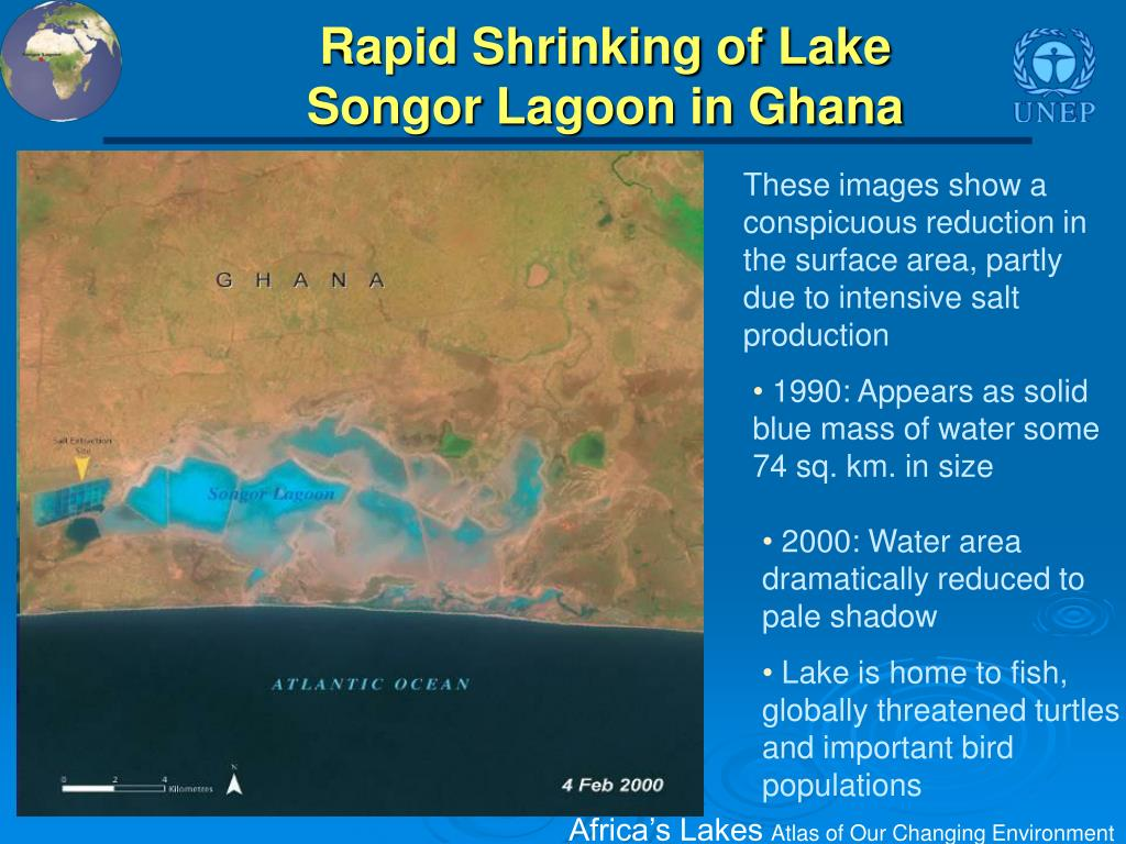 Rapid Shrinking of Lake