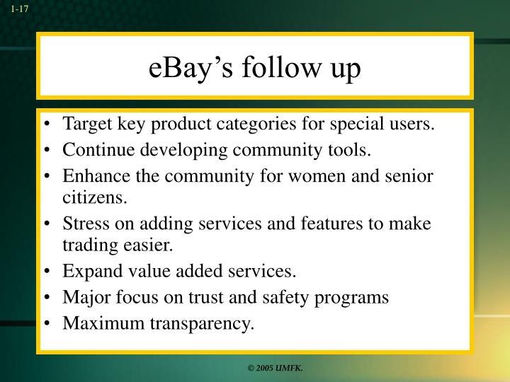 eBay's follow up