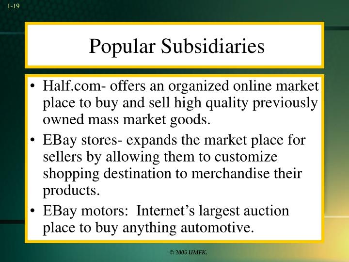 Popular Subsidiaries