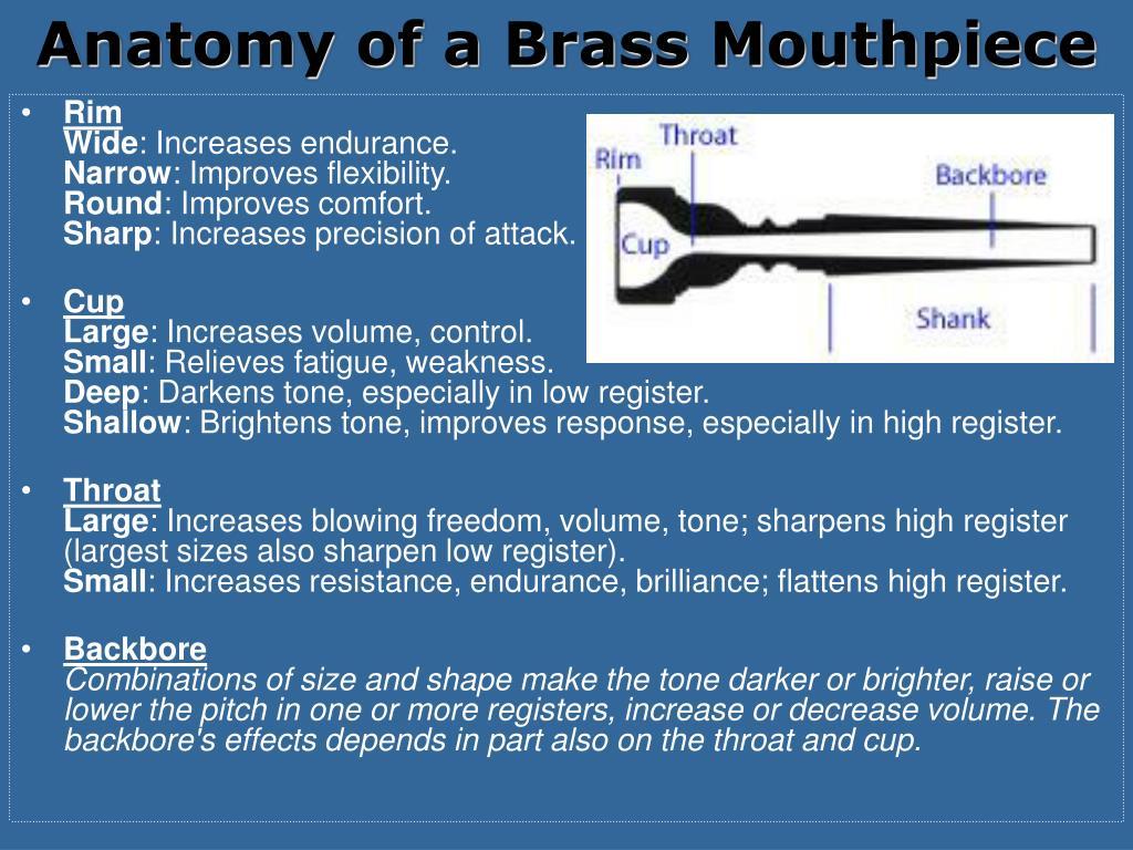 Anatomy of a Brass Mouthpiece