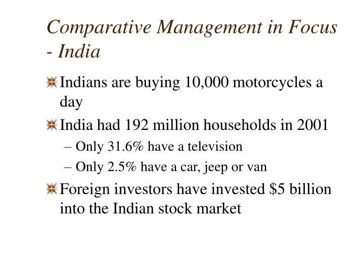 Comparative Management in Focus - India
