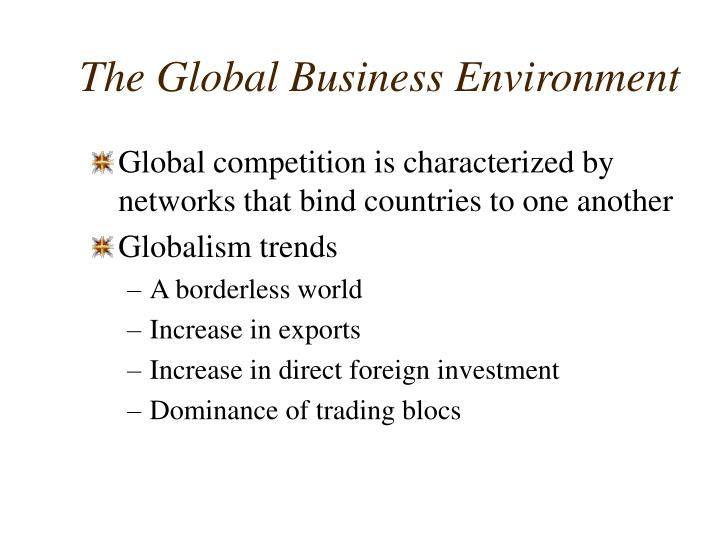 The global business environment1