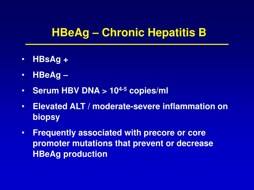 HBeAg – Chronic Hepatitis B