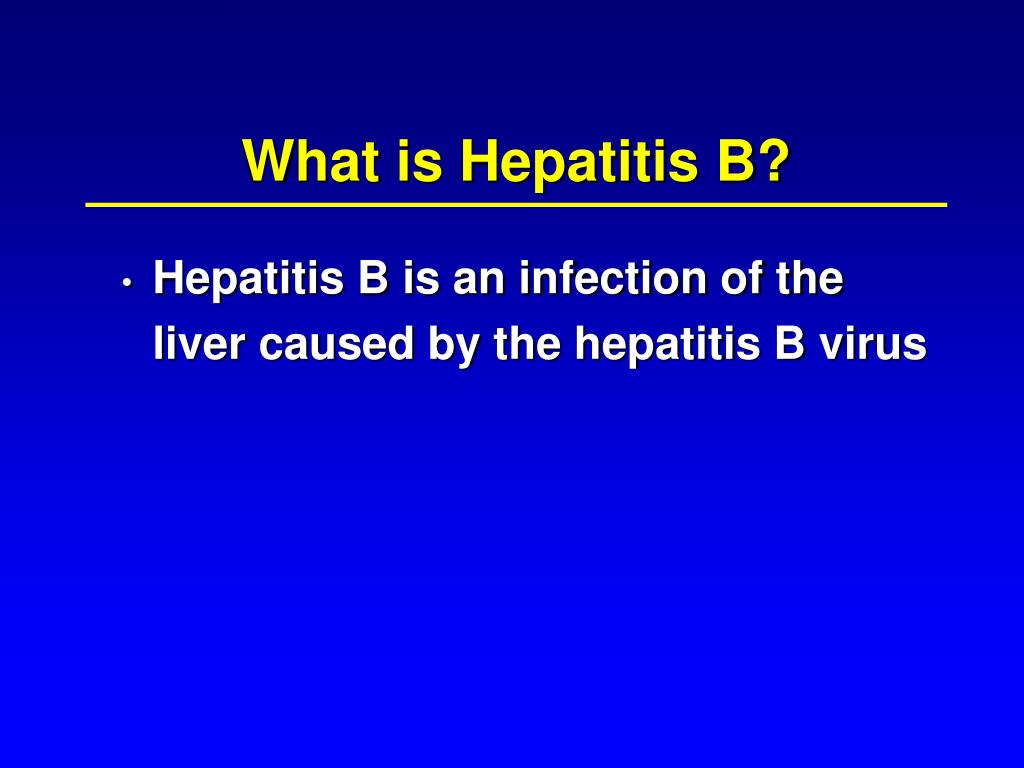 What is Hepatitis B?