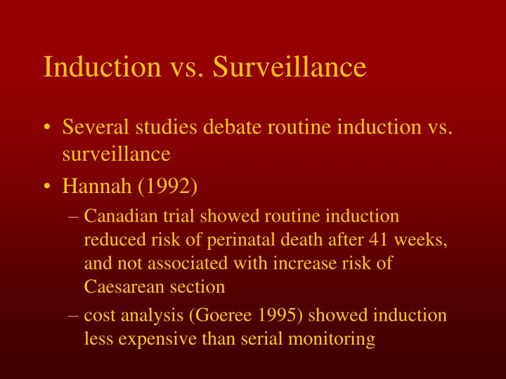 Induction vs. Surveillance