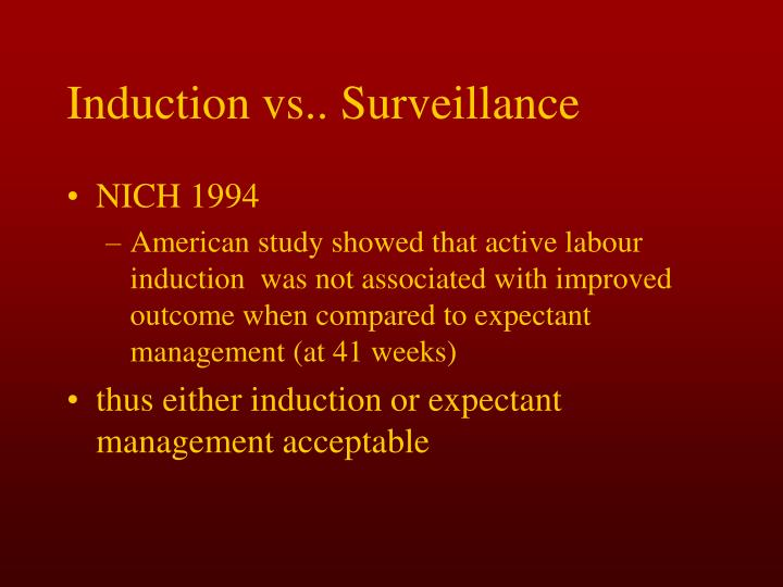 Induction vs.. Surveillance
