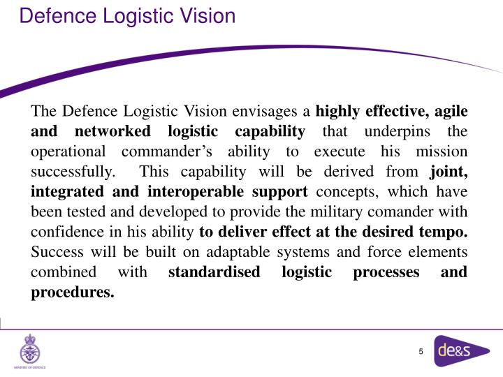 Defence Logistic Vision