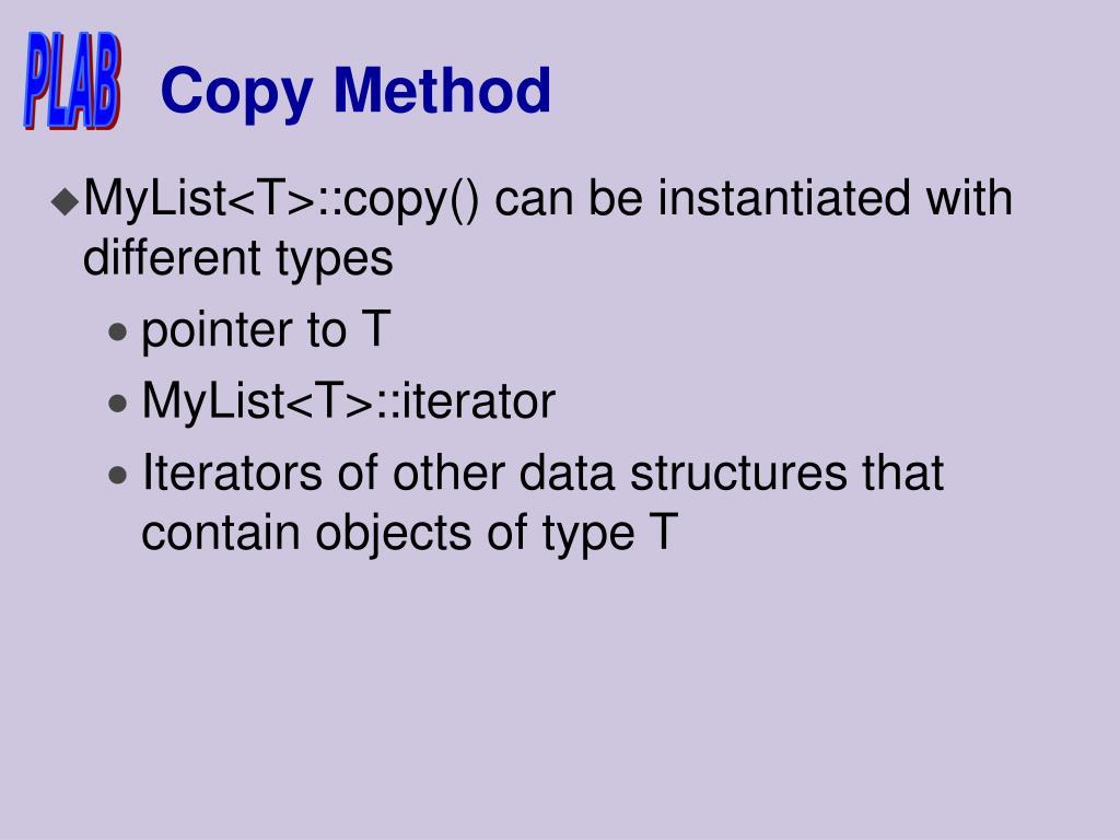 Copy Method