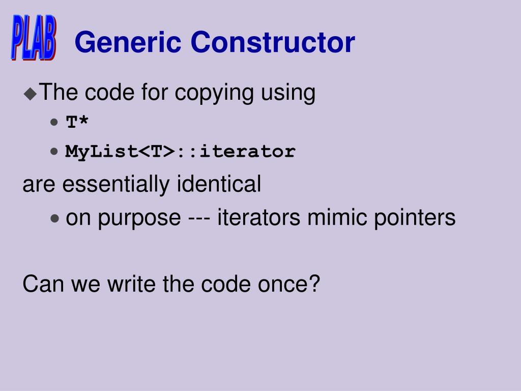Generic Constructor