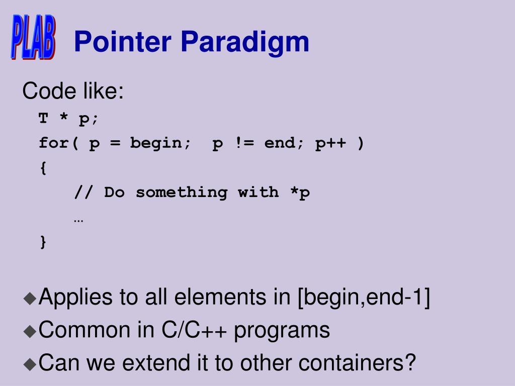 Pointer Paradigm