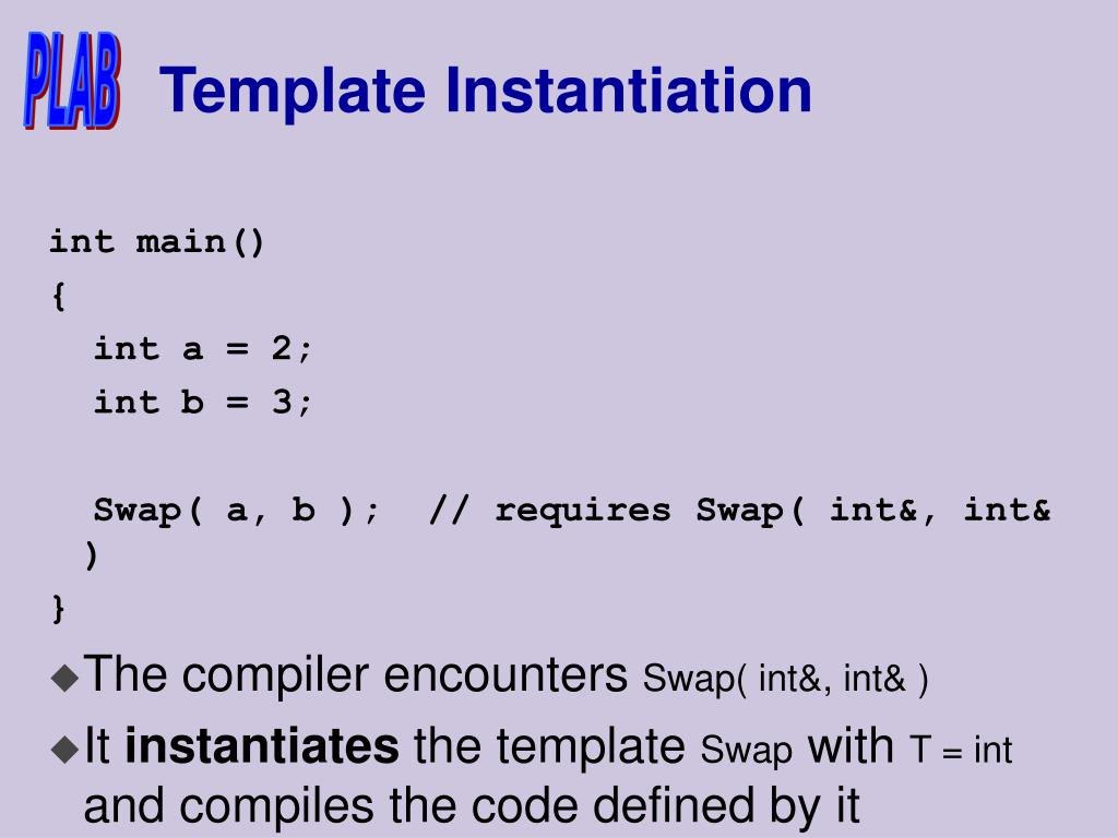 Template Instantiation