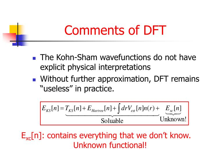 Comments of DFT