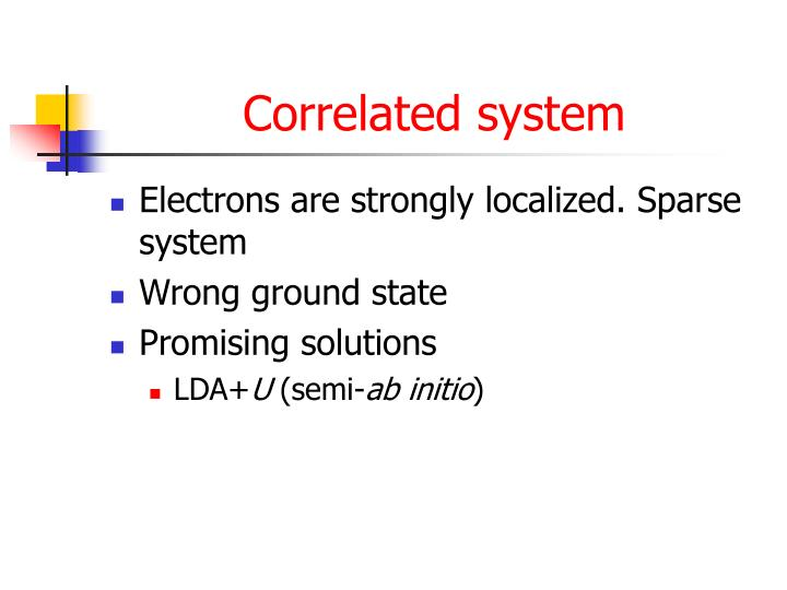 Correlated system