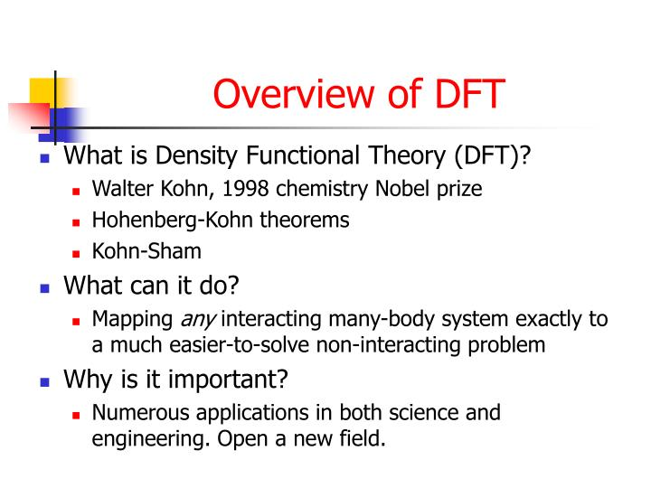 Overview of DFT