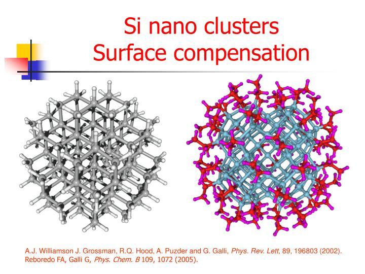 Si nano clusters