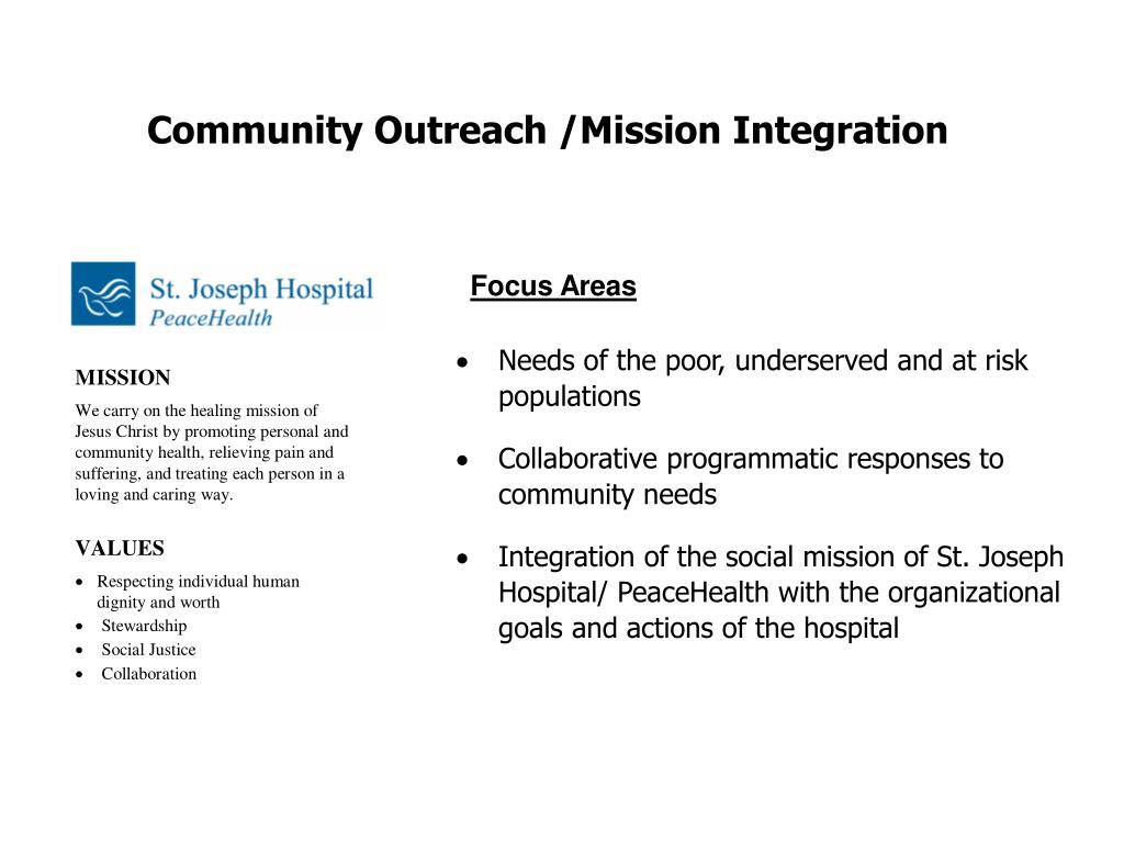 Community Outreach /Mission Integration