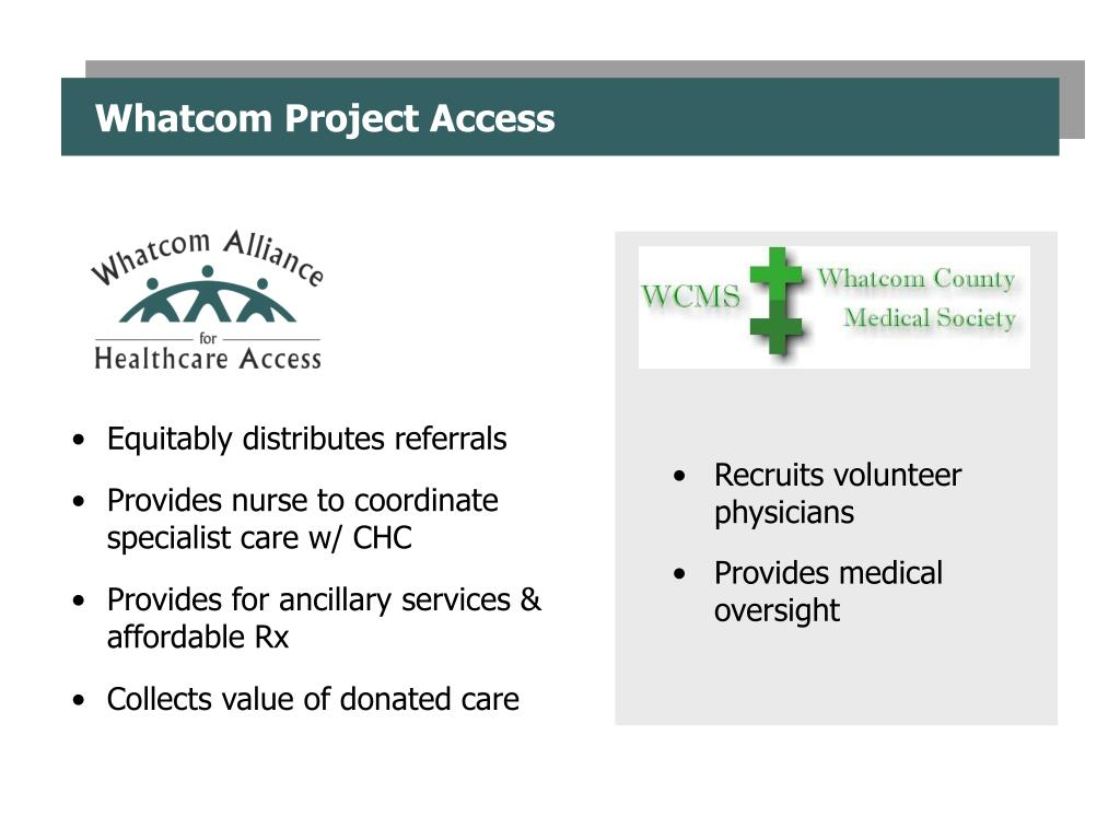 Whatcom Project Access