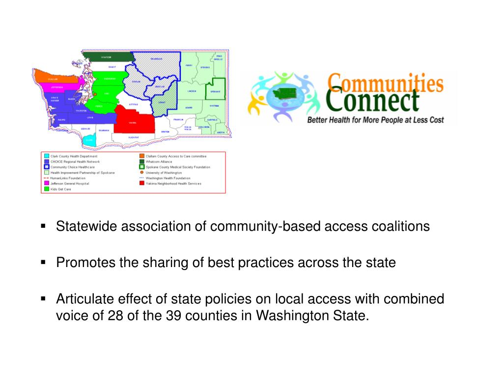 Statewide association of community-based access coalitions