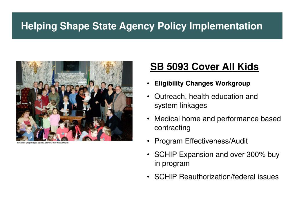 Helping Shape State Agency Policy Implementation