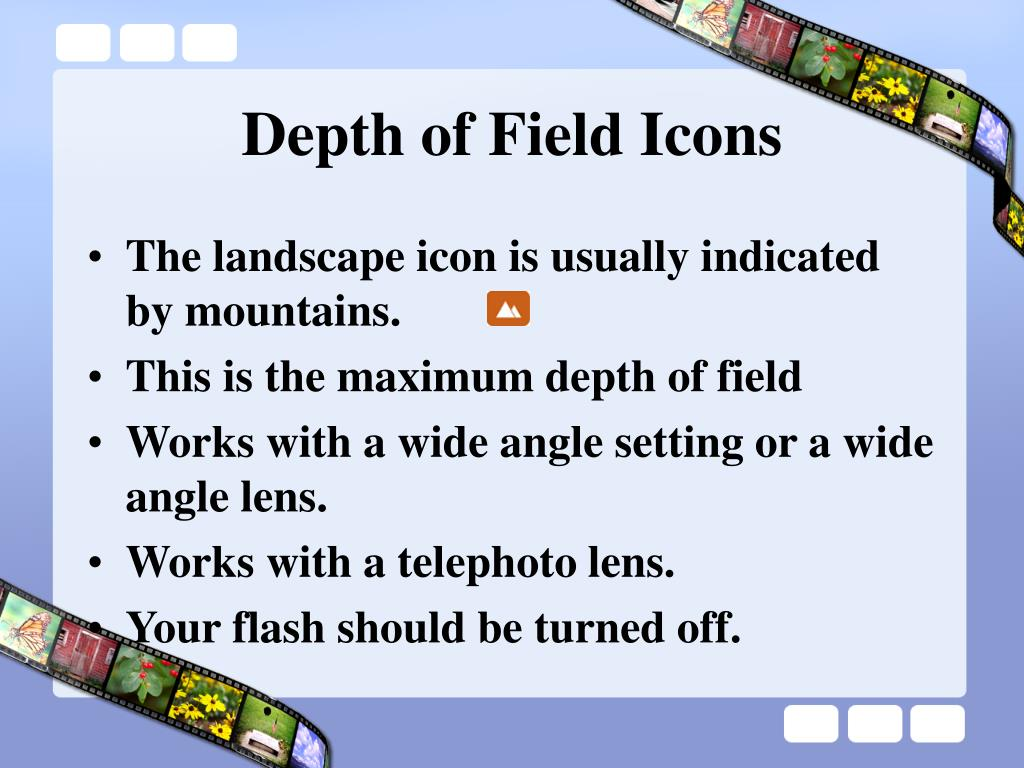 Depth of Field Icons