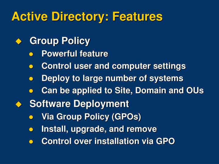 Active Directory: Features