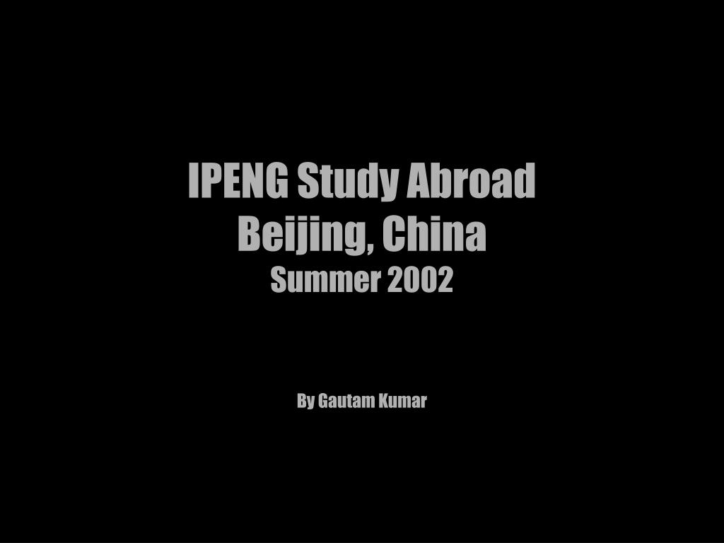 IPENG Study Abroad
