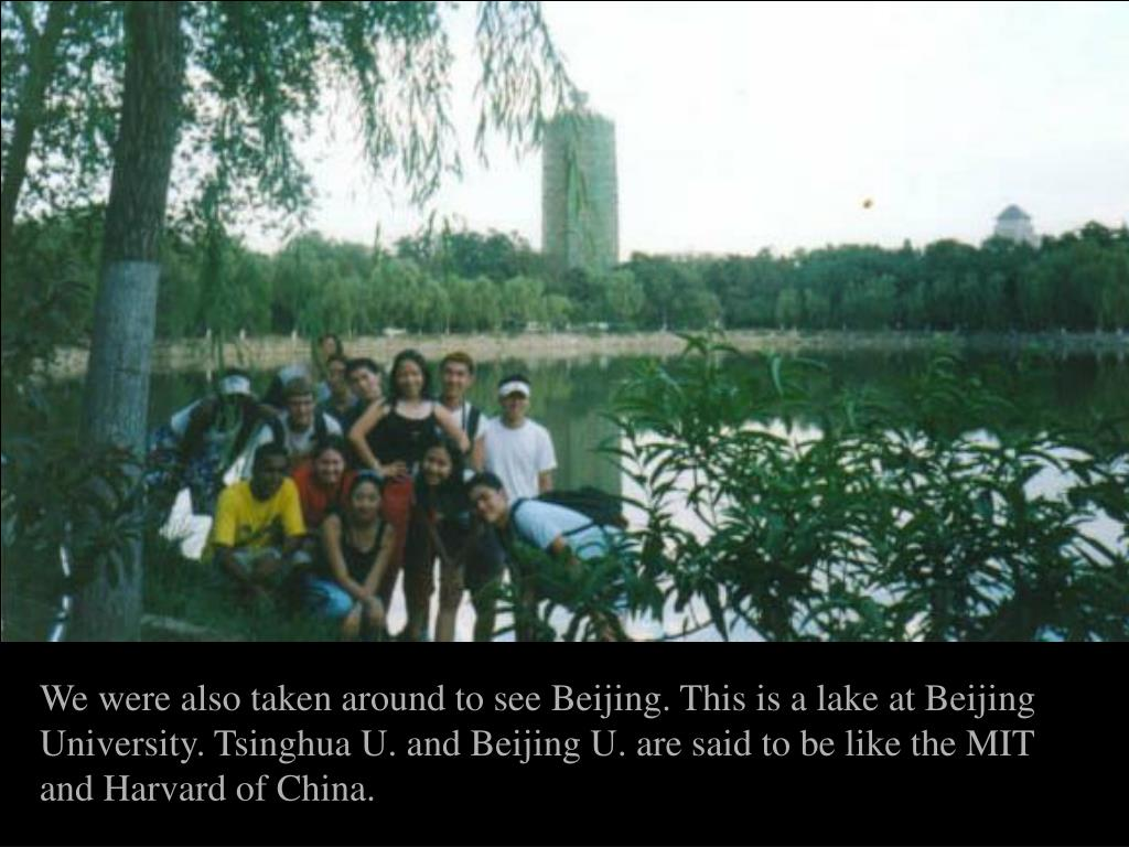 We were also taken around to see Beijing. This is a lake at Beijing University. Tsinghua U. and Beijing U. are said to be like the MIT and Harvard of China.