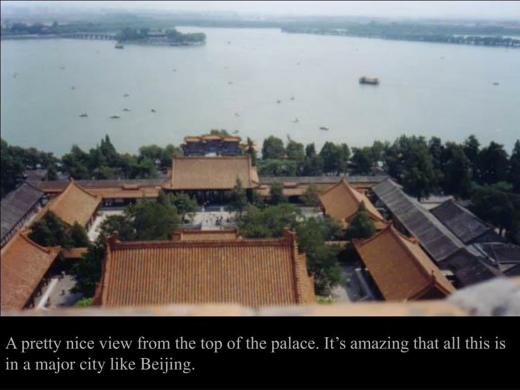 A pretty nice view from the top of the palace. It's amazing that all this is in a major city like Beijing.