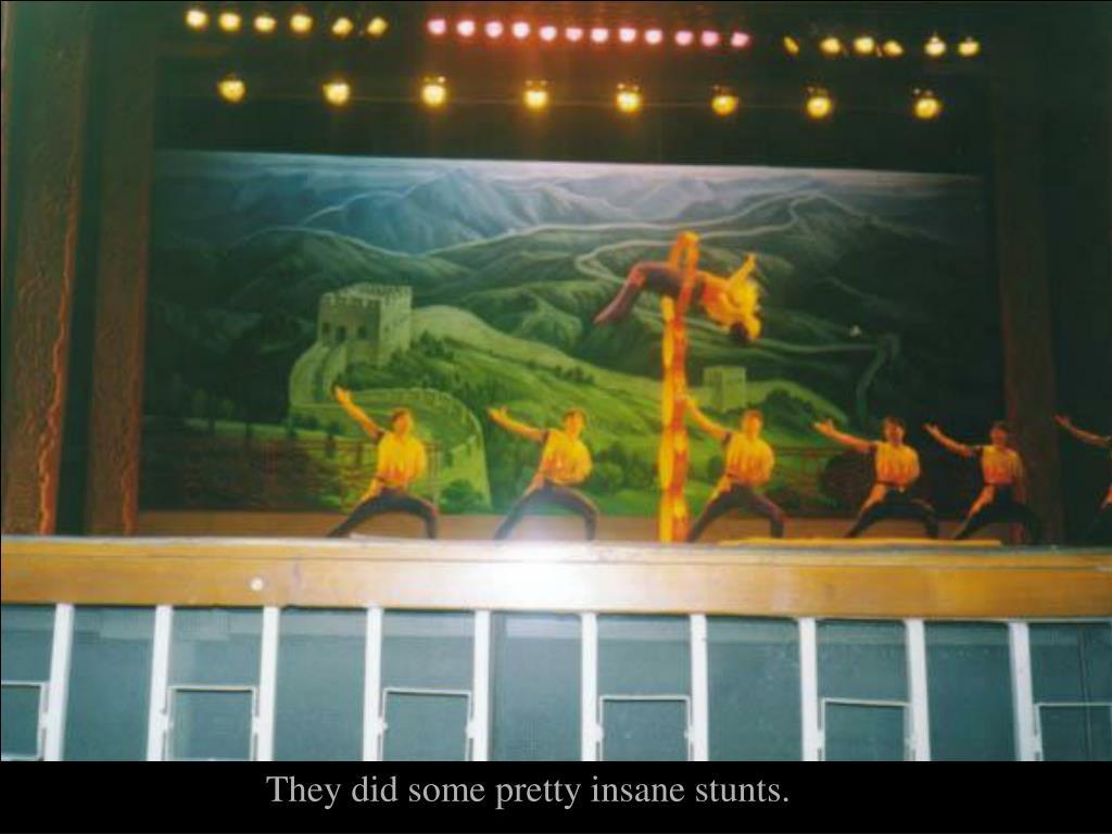 They did some pretty insane stunts.