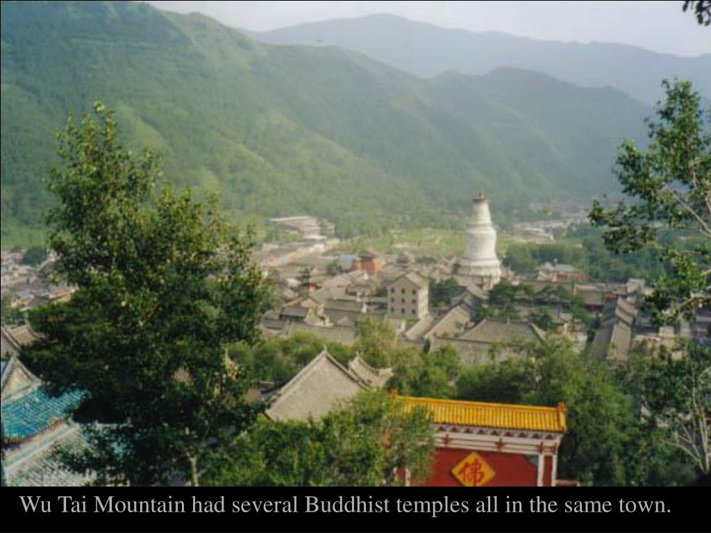 Wu Tai Mountain had several Buddhist temples all in the same town.