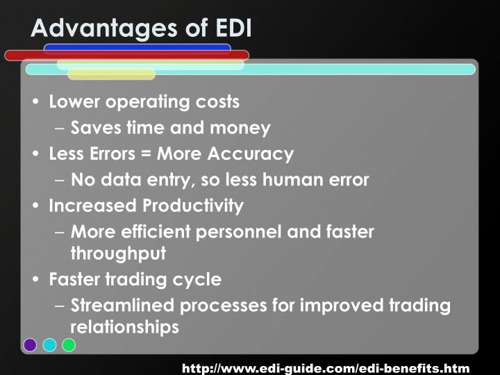Advantages of EDI