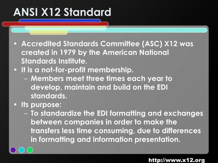ANSI X12 Standard