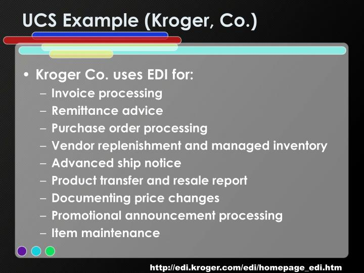 UCS Example (Kroger, Co.)