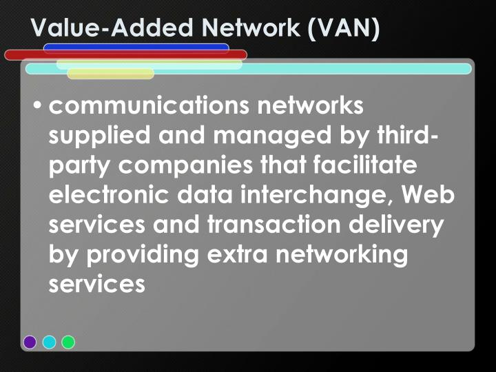Value-Added Network (VAN)