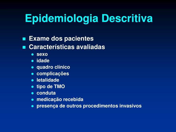 Epidemiologia Descritiva