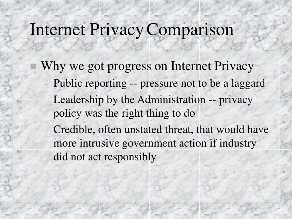 Internet Privacy	Comparison