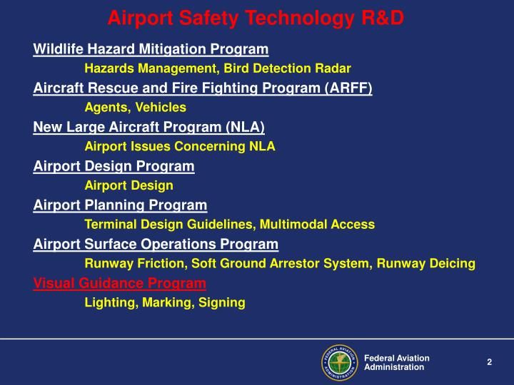 Airport safety technology r d