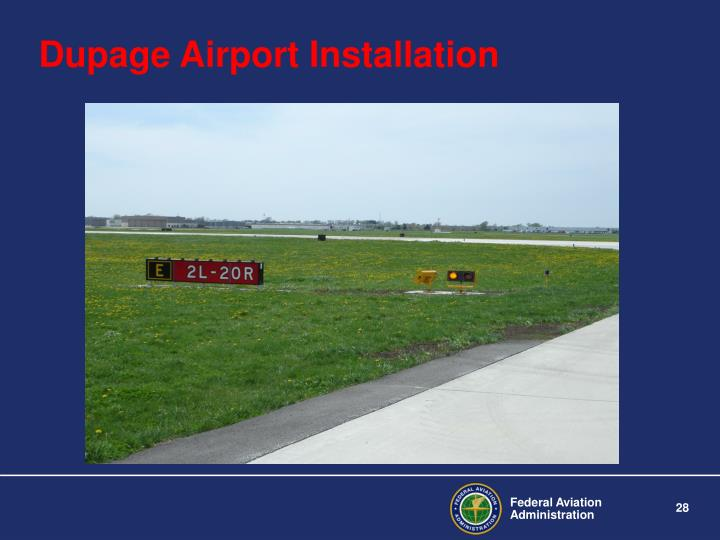 Dupage Airport Installation