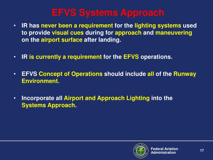 EFVS Systems Approach