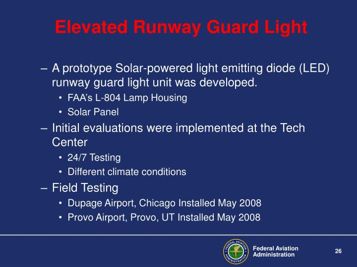 Elevated Runway Guard Light