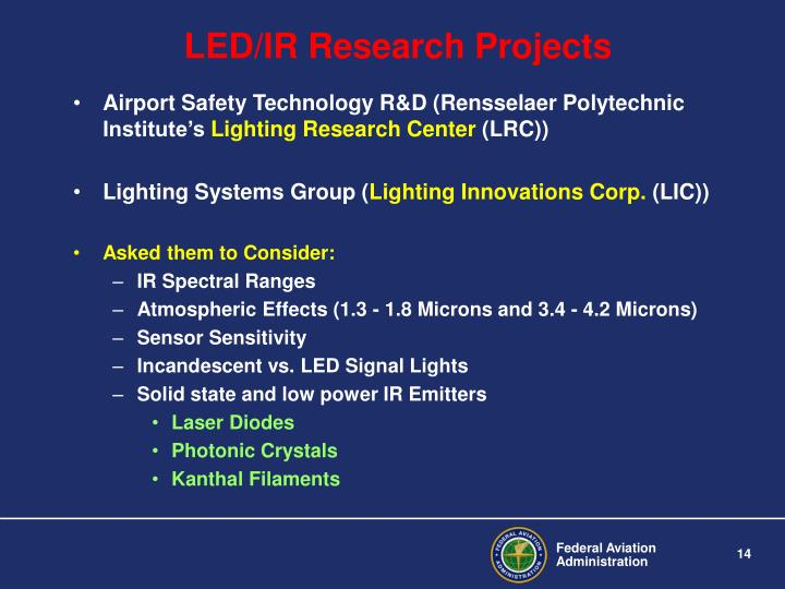 LED/IR Research Projects