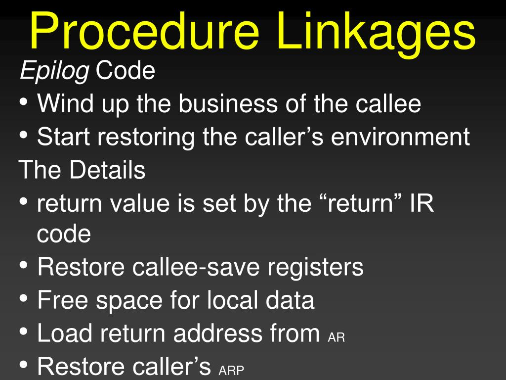 Procedure Linkages