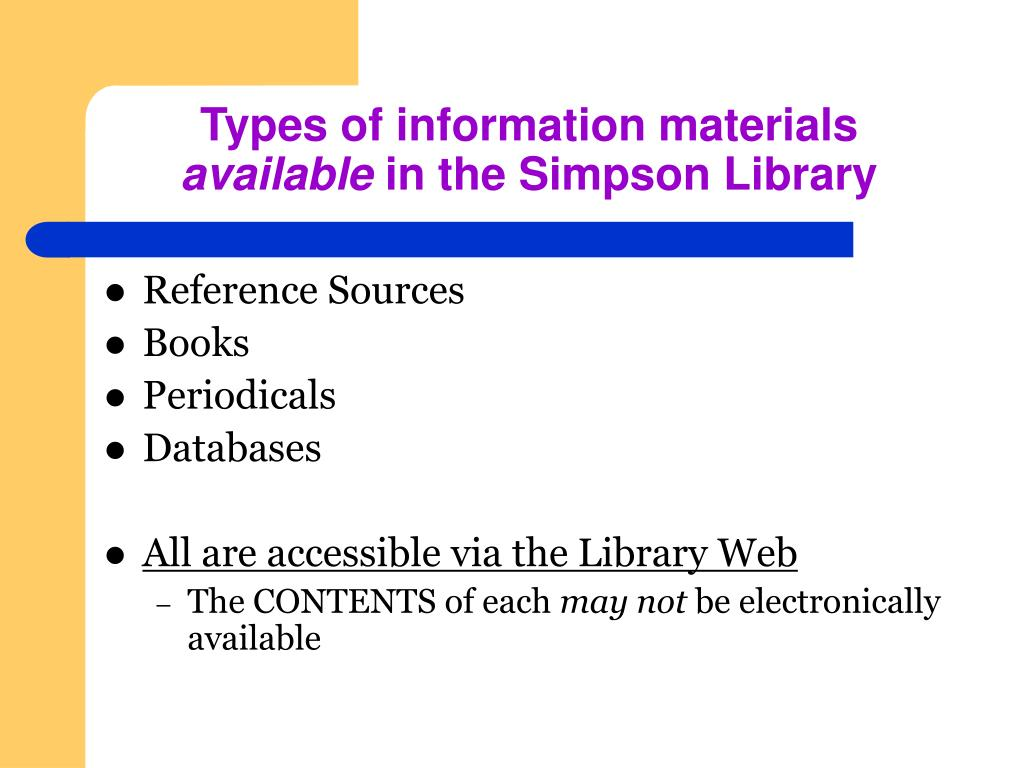Types of information materials